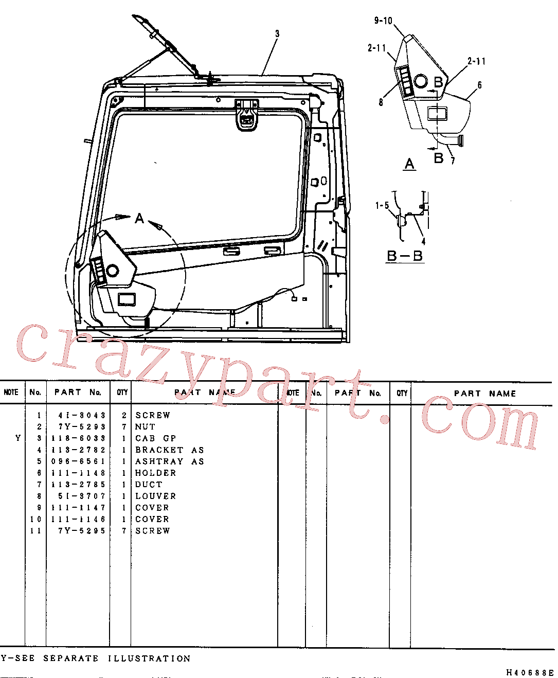 CAT 9X-2480 for 730C2 Articulated Truck(ADT) operator station 102-8358 Assembly