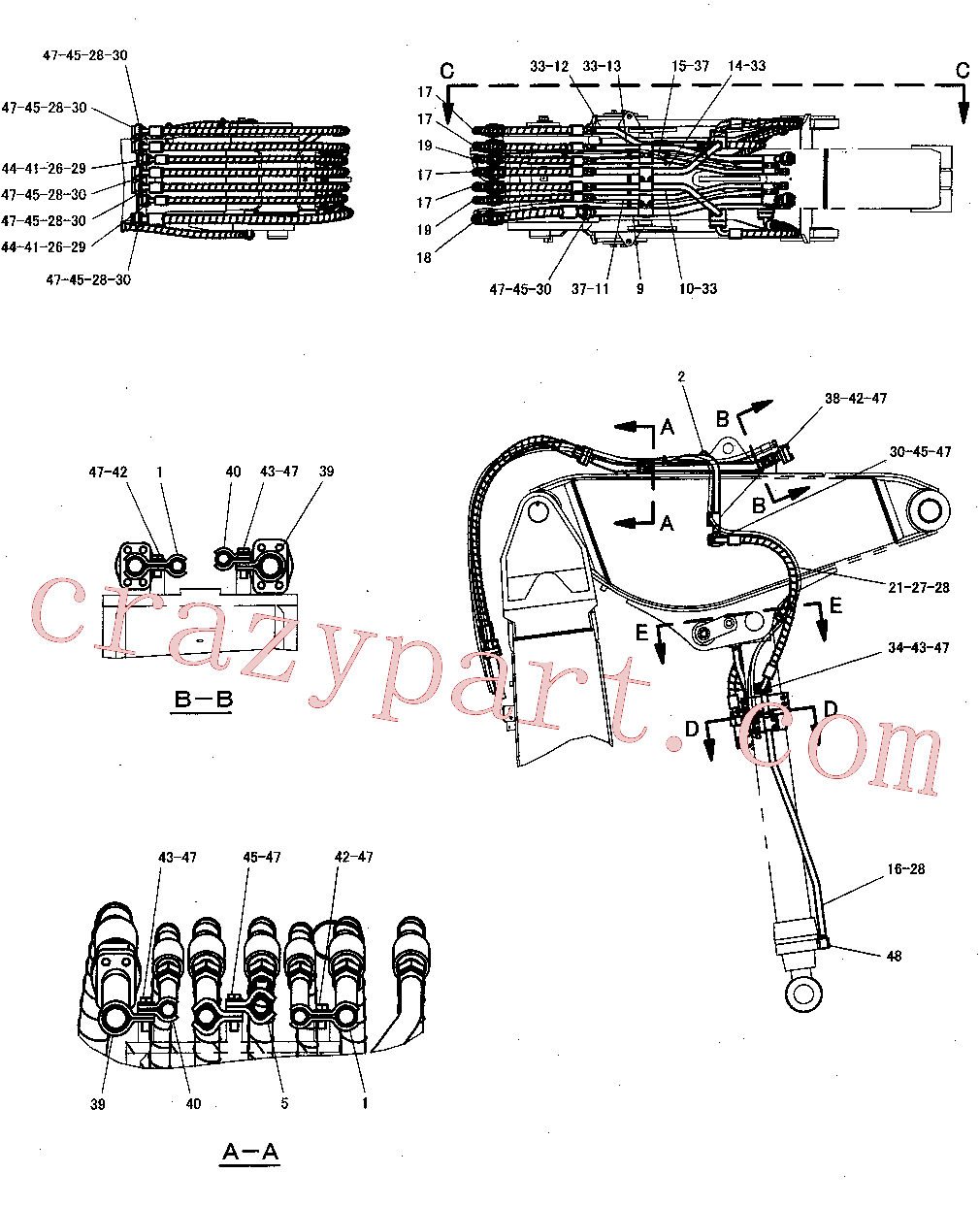 CAT 265-0695 for 345C Excavator(EXC) hydraulic system 300-8170 Assembly