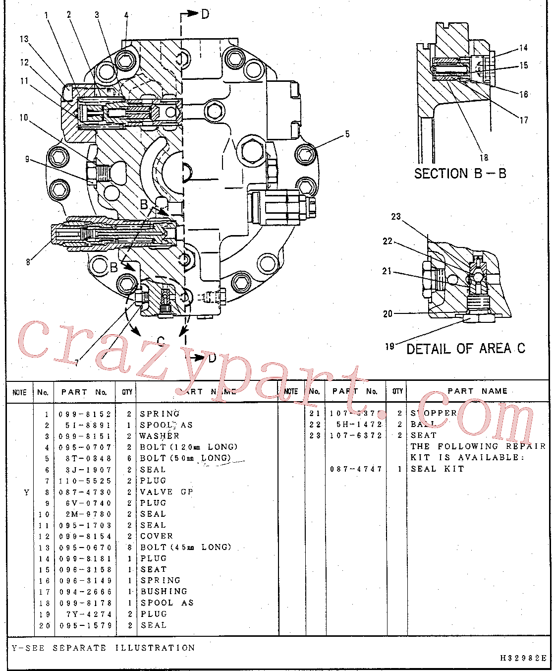 CAT 087-4746 for 322-A L Excavator(EXC) hydraulic system 7Y-4238 Assembly