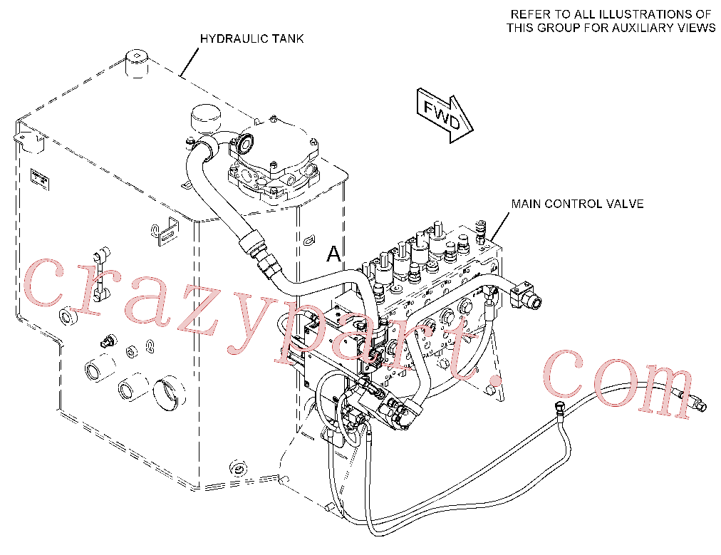 CAT 214-3413 for M322D Wheeled Excavator(WHEX) hydraulic system 418-8739 Assembly