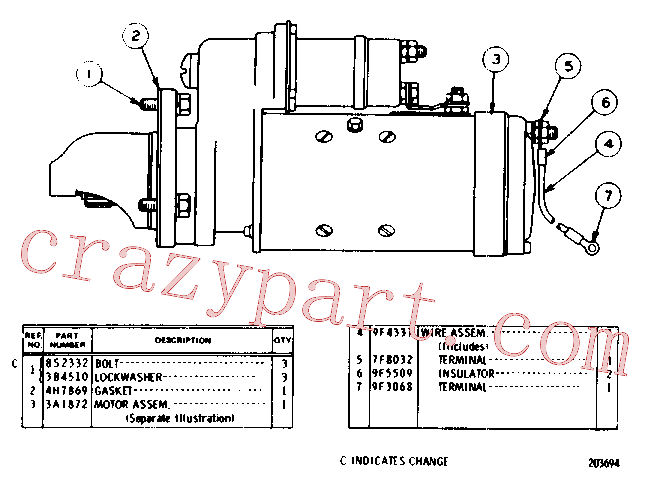 CAT 9B-7235 for 3412 Engine Machine(EMAC) engine related parts 3A-1590 Assembly