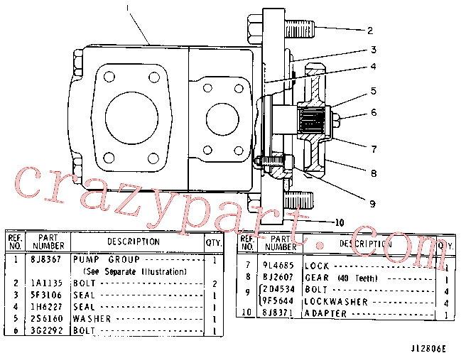 CAT 2H-3934 for 943 Track Loader(TTL) hydraulic system 8J-8368 Assembly