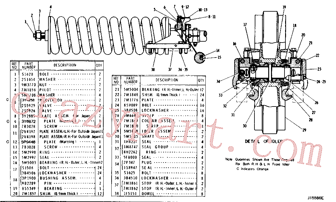 CAT 7M-1856 for 143 Hydraulic Control(TTT) chassis and undercarriage 1V-8050 Assembly