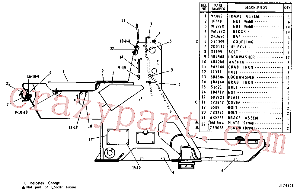CAT 2B-7556 for 966C Wheel Loader(WTL) chassis and undercarriage 6K-4450 Assembly