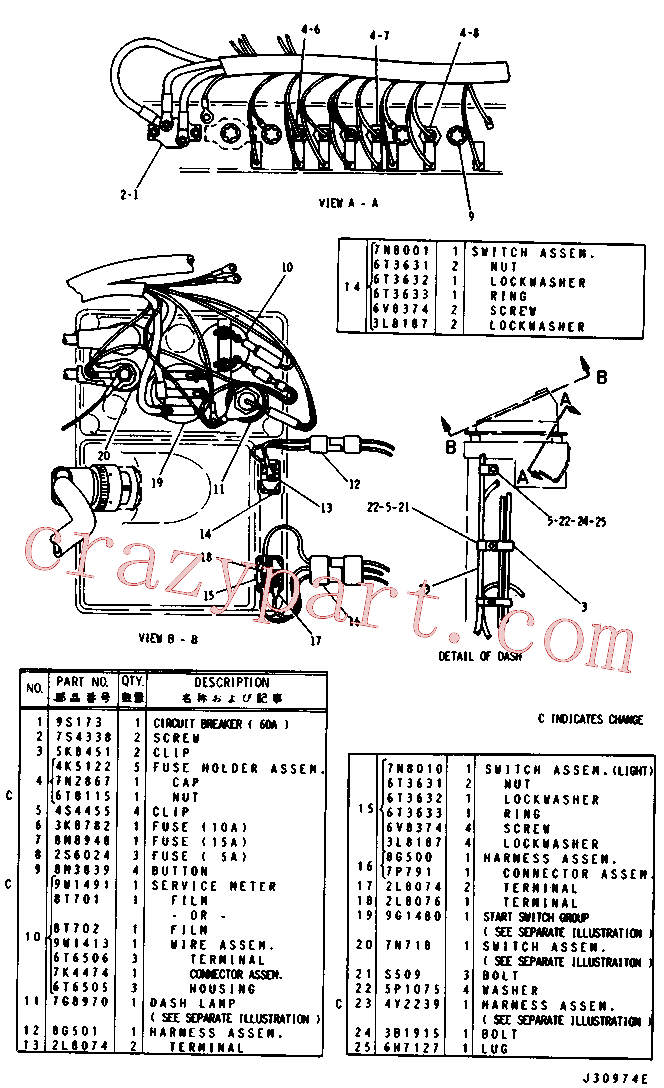 CAT 1K-6705 for 225 Excavator(EXC) electrical system 8G-3018 Assembly
