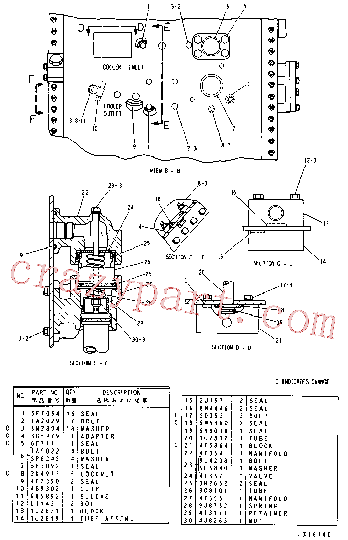CAT 9H-7759 for D8H Track Type Tractor(TTT) hydraulic system 3G-4786 Assembly
