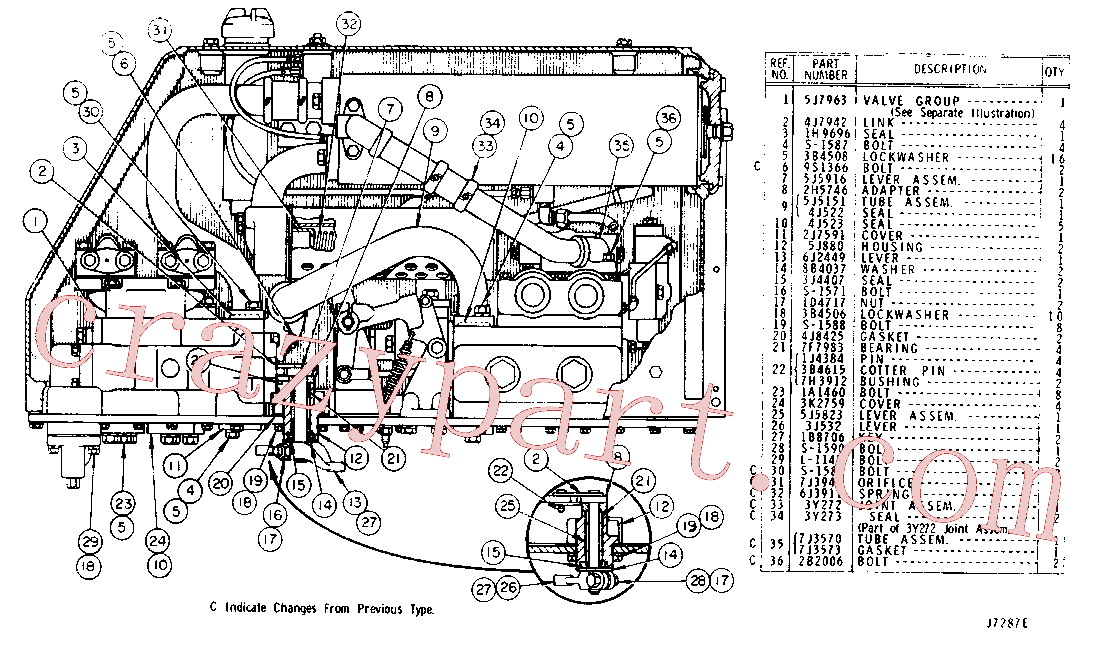 CAT 6J-2236 for 950 Wheel Loader(WTL) chassis and undercarriage 5J-7956 Assembly
