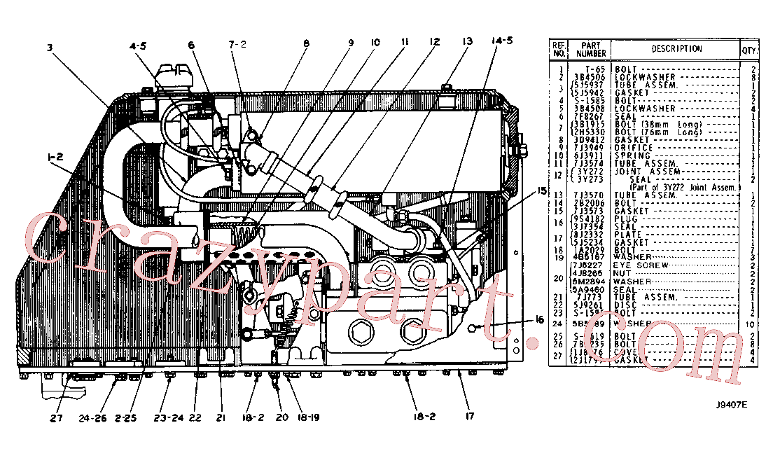 CAT 6J-2236 for 225 Excavator(EXC) hydraulic system 5J-7952 Assembly