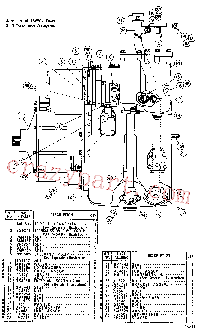 CAT 9M-7002 for 955L Track Loader(TTL) power train 4S-8564 Assembly