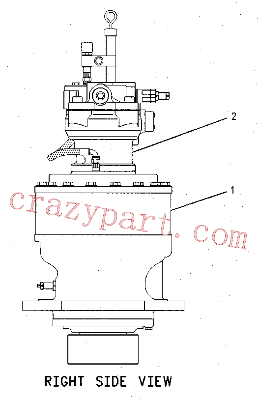 CAT 169-5532 for W345B II Wheeled Excavator(WHEX) hydraulic system 169-5529 Assembly