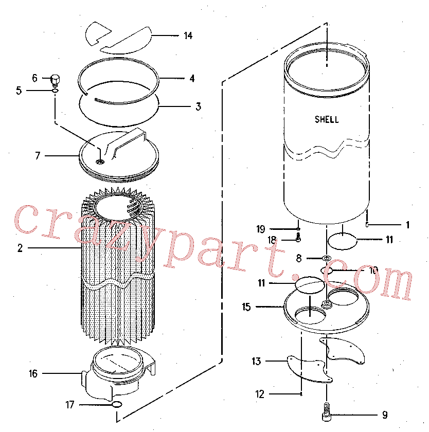 CAT 137-3621 for 320B S Excavator(EXC) hydraulic system 126-2080 Assembly