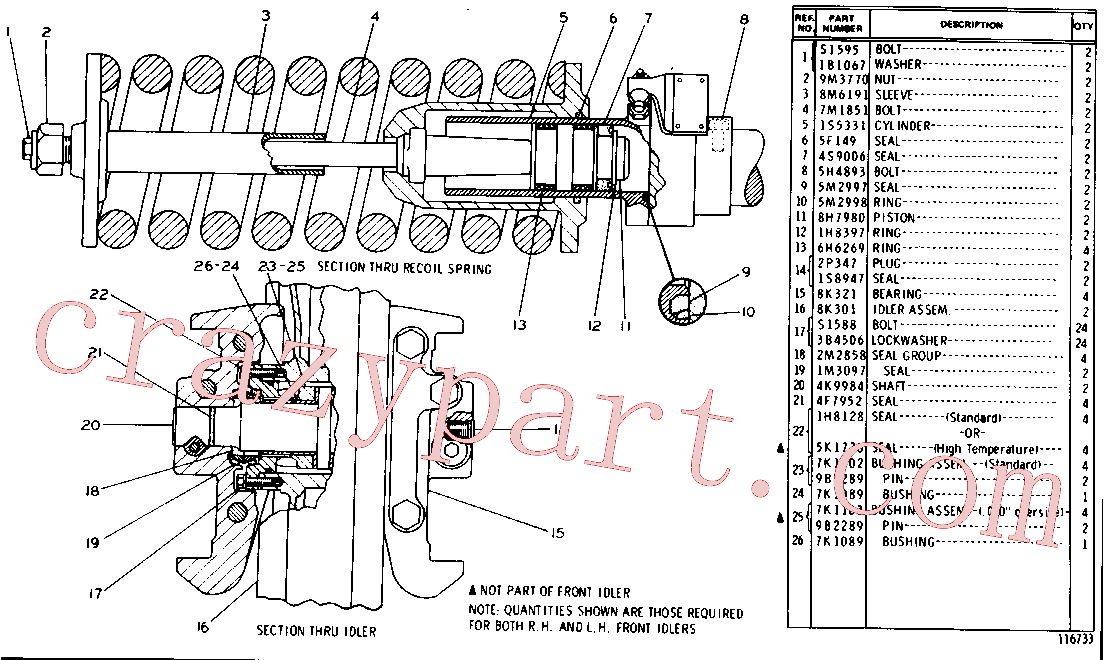 CAT 5K-1770 for 561D Pipelayer(PIPE) undercarriage 8K-0170 Assembly