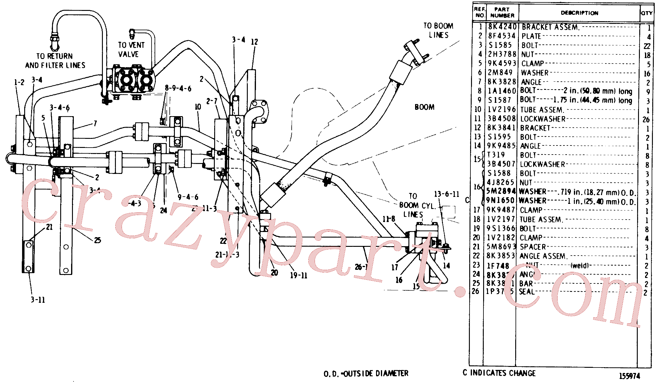 CAT 8K-3969 for 235 Excavator(EXC) hydraulic system 8K-2628 Assembly