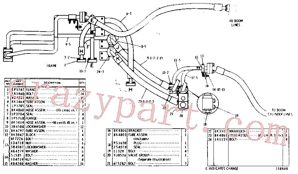 CAT 8K-3042 for 245 Excavator(EXC) hydraulic system 8K-3493 Assembly