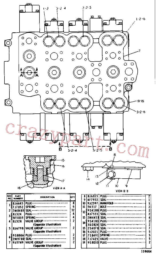 CAT 8J-1589 for 229 Excavator(EXC) hydraulic system 9J-9291 Assembly