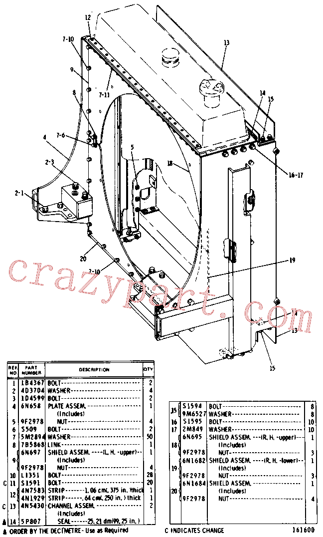 CAT 1D-4586 for D330C Marine Engine(MENG) chassis and undercarriage 4N-1368 Assembly