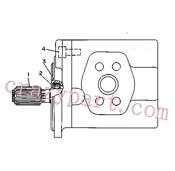 CAT 3G-1859 for 219D Excavator(EXC) hydraulic system 8J-8226 Assembly