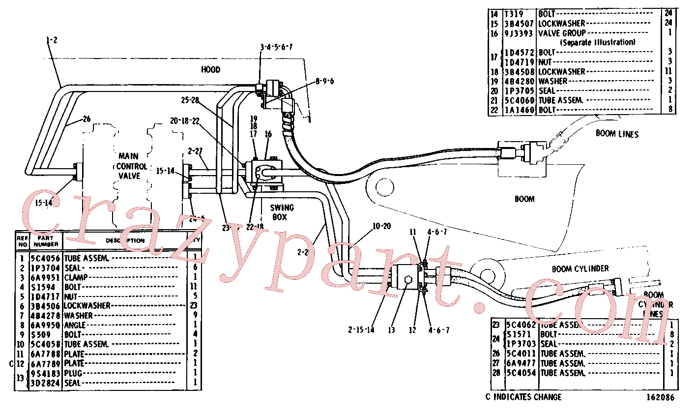 CAT 2P-3931 for 219 Excavator(EXC) hydraulic system 5C-1302 Assembly