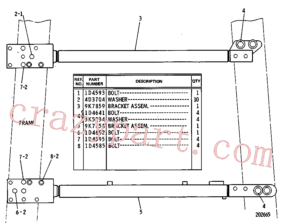 CAT 1D-4602 for 140 Hydraulic Control(TTT) chassis and undercarriage 9K-0200 Assembly