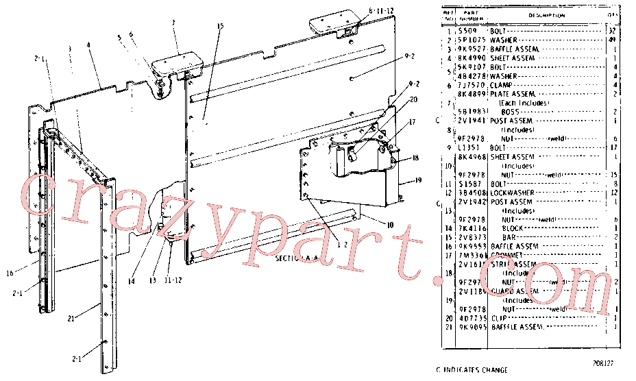 CAT 8S-9092 for 916 Wheel Loader(WTL) chassis and undercarriage 8K-3660 Assembly