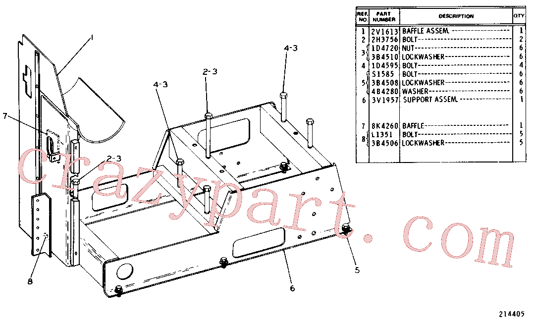 CAT 2H-3756 for 235D Excavator(EXC) chassis and undercarriage 3V-1956 Assembly