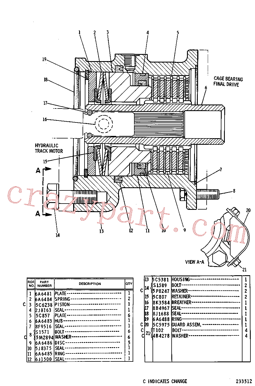 CAT 5C-5381 for 215 Excavator(EXC) power train 5C-5384 Assembly