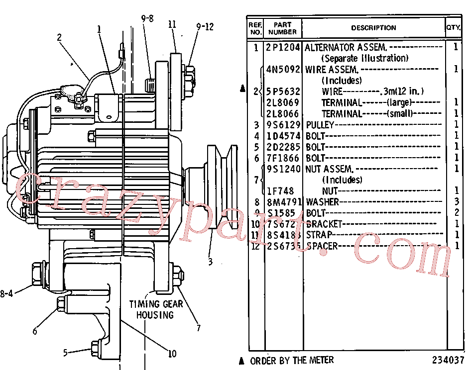 CAT 2D-2285 for 12H NA Motor Grader(MG) starting and electrical system 5C-8661 Assembly