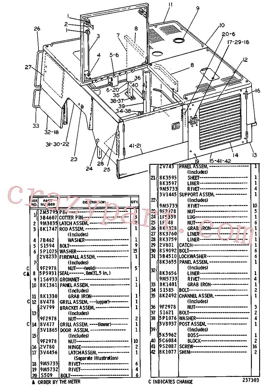 CAT 8H-2282 for 320D Excavator(EXC) chassis and undercarriage 3V-1446 Assembly