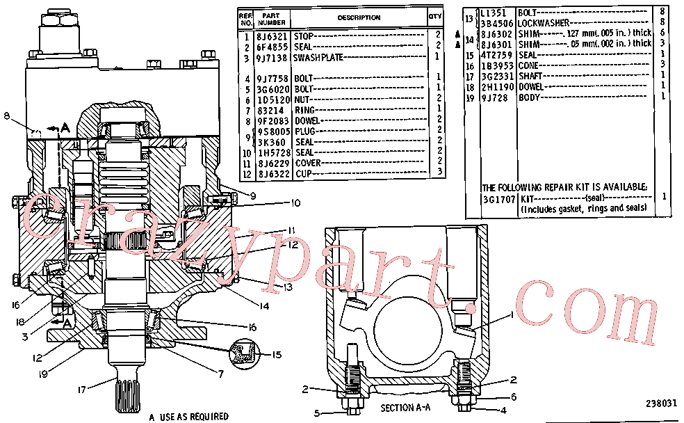 CAT 8J-6302 for 215 Excavator(EXC) hydraulic system 1U-4748 Assembly