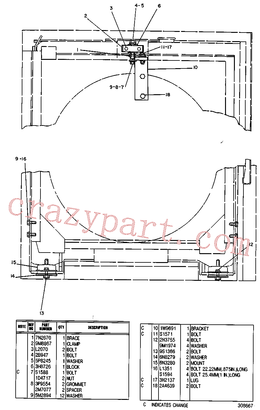 CAT 3H-2137 for SR4 Generator(IENG) chassis and undercarriage 7N-0054 Assembly