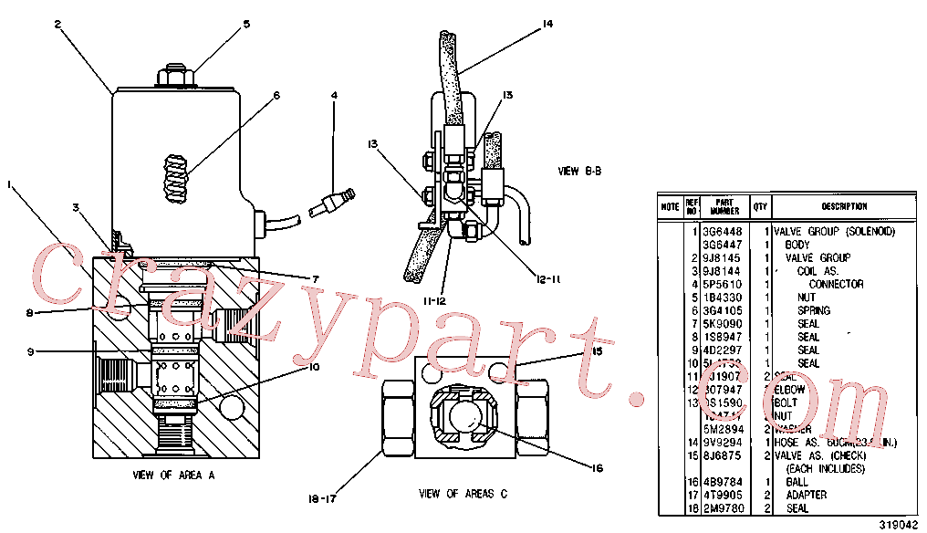 CAT 4T-5689 for 235 Excavator(EXC) hydraulic system 9V-8313 Assembly