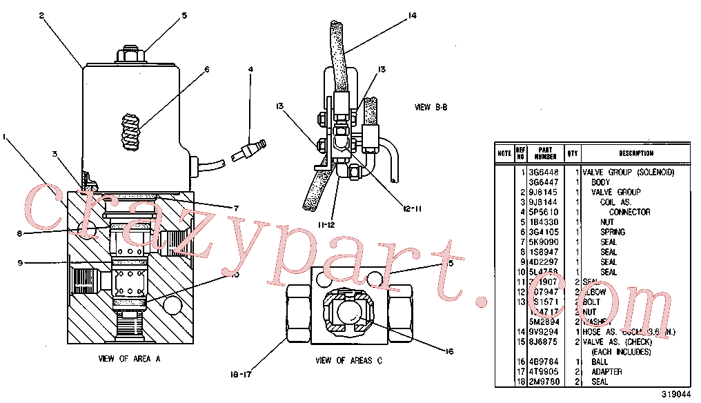 CAT 8T-0406 for 225B Excavator(EXC) hydraulic system 9V-9300 Assembly