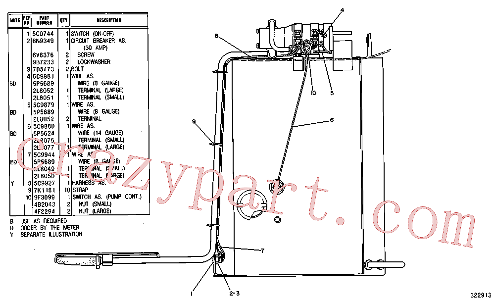 CAT 7S-3912 for 267B Multi Terrain Loader(SSL) fuel system and governor 5C-9945 Assembly
