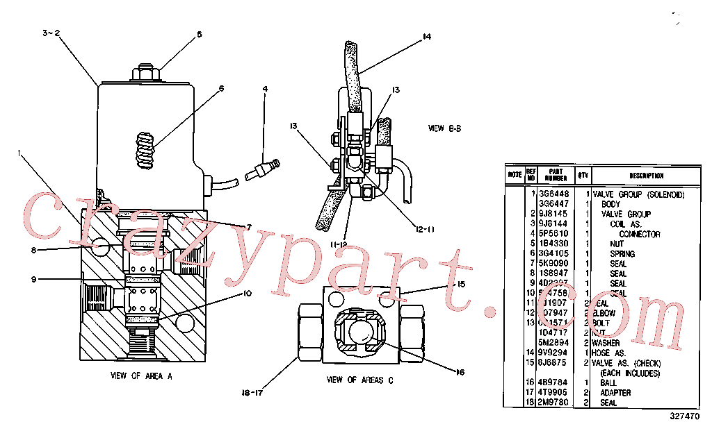 CAT 8T-0406 for 229 Excavator(EXC) hydraulic system 6W-2482 Assembly