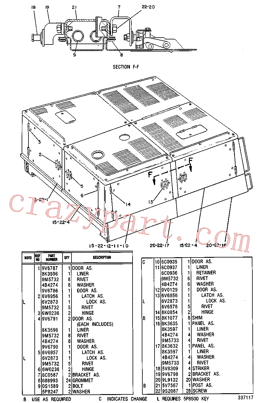 CAT 8H-2282 for 312D L Excavator(EXC) chassis and undercarriage 8V-9109 Assembly