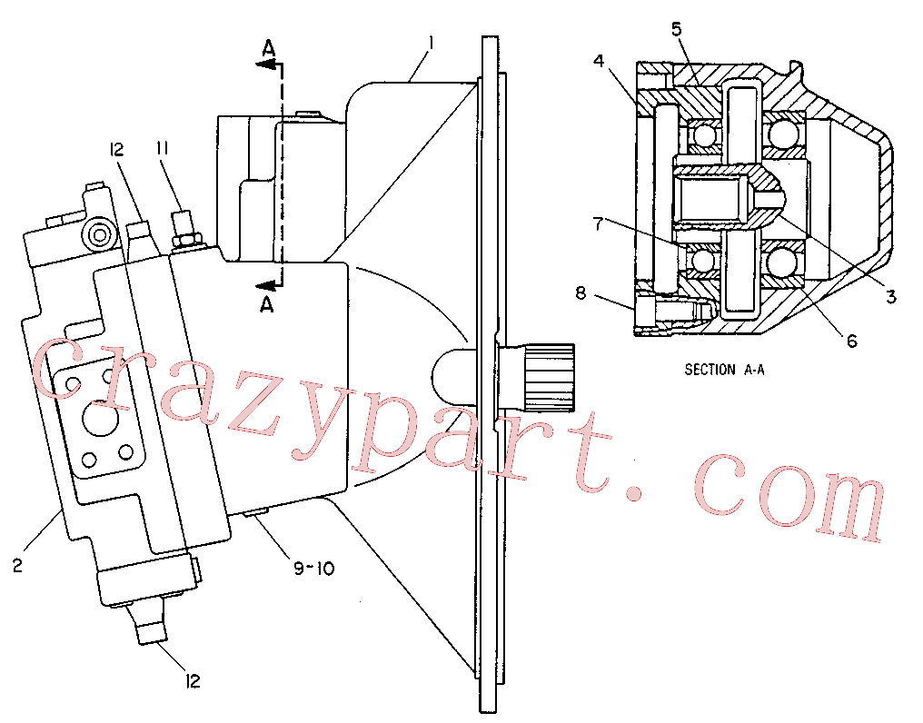 CAT 9T-3400 for 219 Excavator(EXC) hydraulic system 9T-0992 Assembly