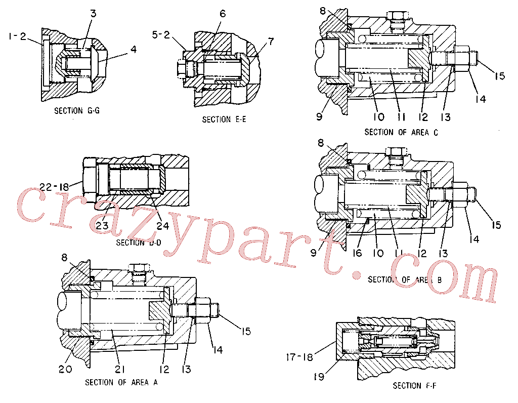 CAT 9T-0122 for 231D Excavator(EXC) hydraulic system 9T-2287 Assembly