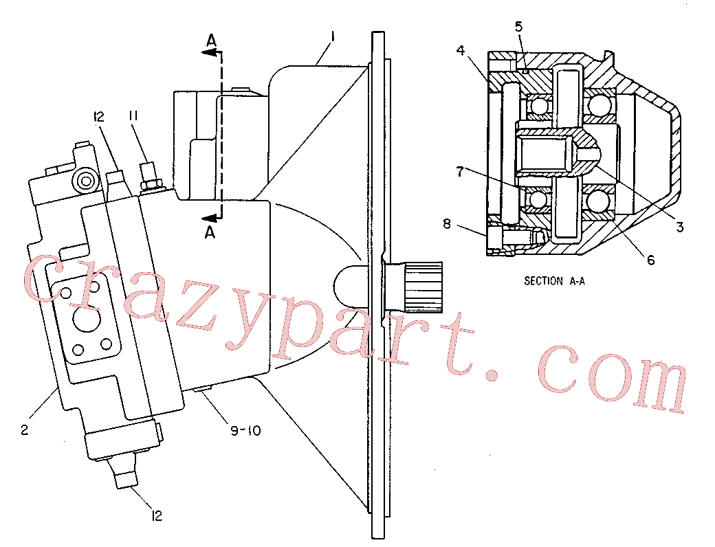CAT 9T-3400 for 229 Excavator(EXC) hydraulic system 9T-7156 Assembly