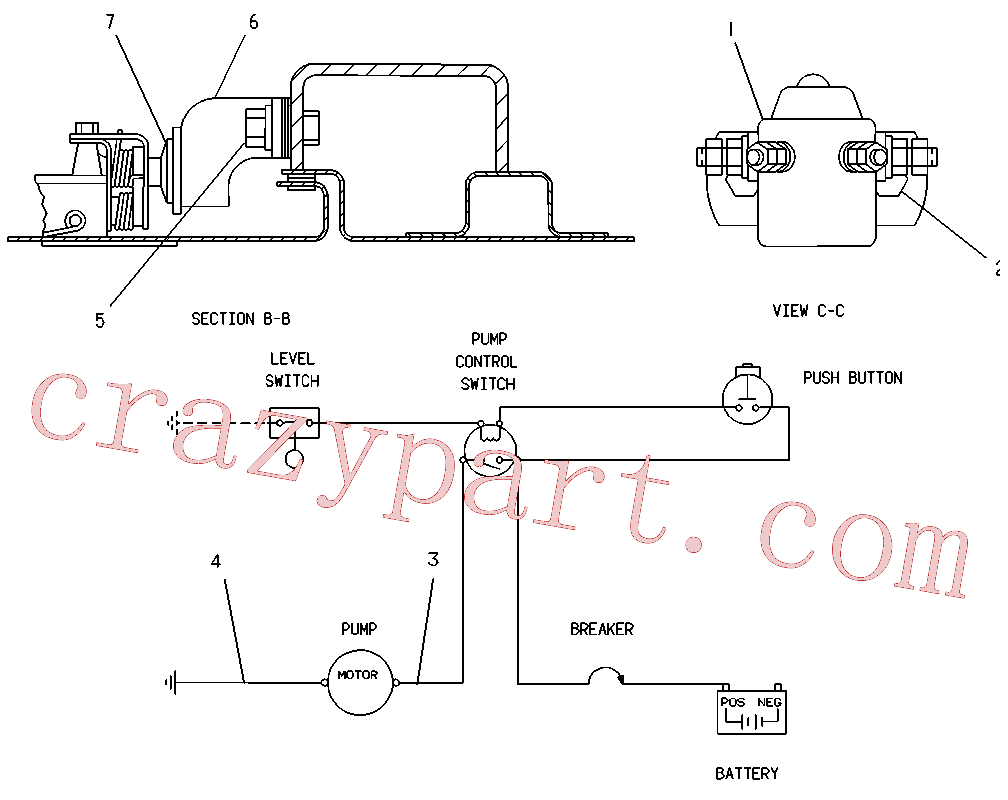 CAT 7S-3912 for 245 Excavator(EXC) fuel system and governor 5C-6083 Assembly