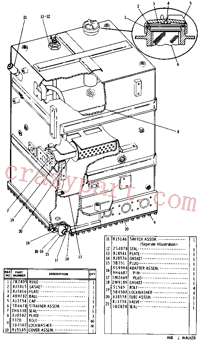 CAT 7J-3573 for 235C Excavator(EXC) hydraulic system 9J-5141 Assembly