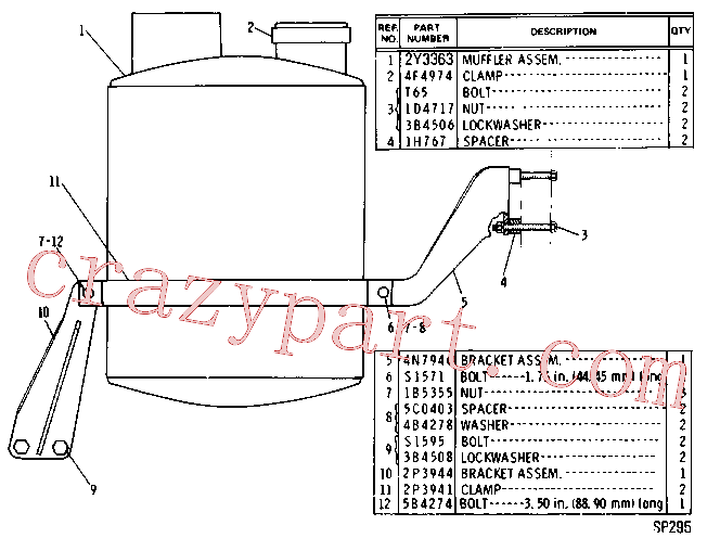 CAT 4S-5719 for 3608 Locomotive Engine(IENG) intake and exhaust system 2P-0970 Assembly