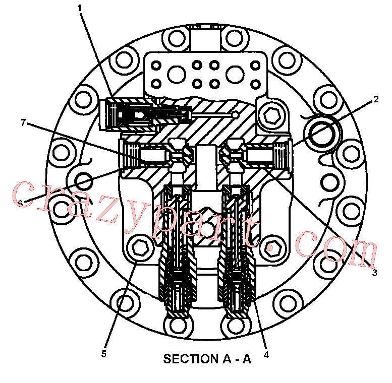 CAT 094-1900 for 330B L Excavator(EXC) hydraulic system 087-4824 Assembly