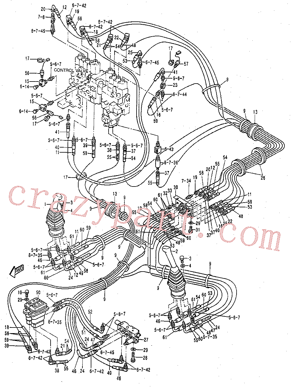 CAT 104-8771 for 319D L Excavator(EXC) hydraulic system 119-2390 Assembly