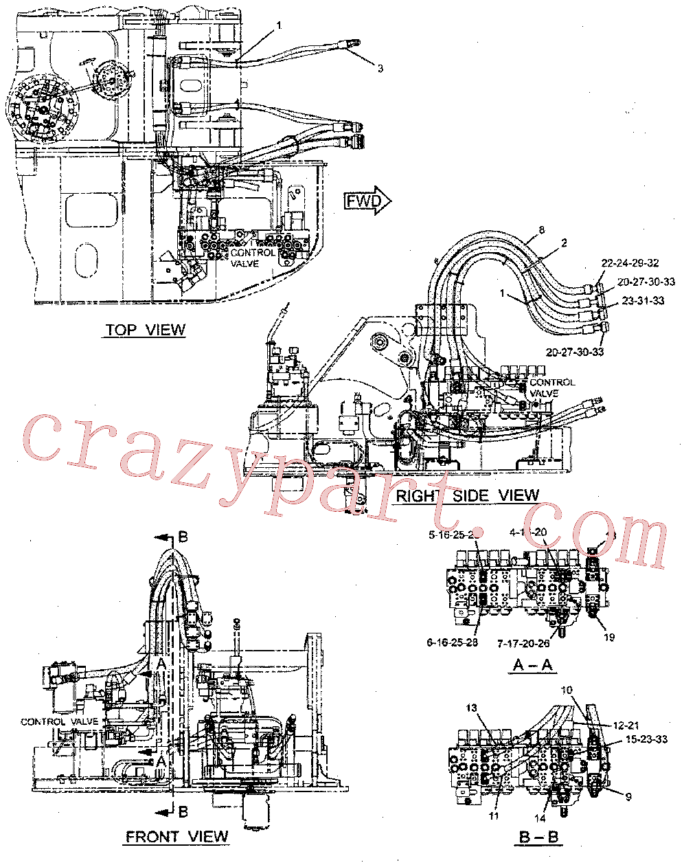 CAT 171-3306 for 328D LCR Excavator(EXC) hydraulic system 277-0867 Assembly