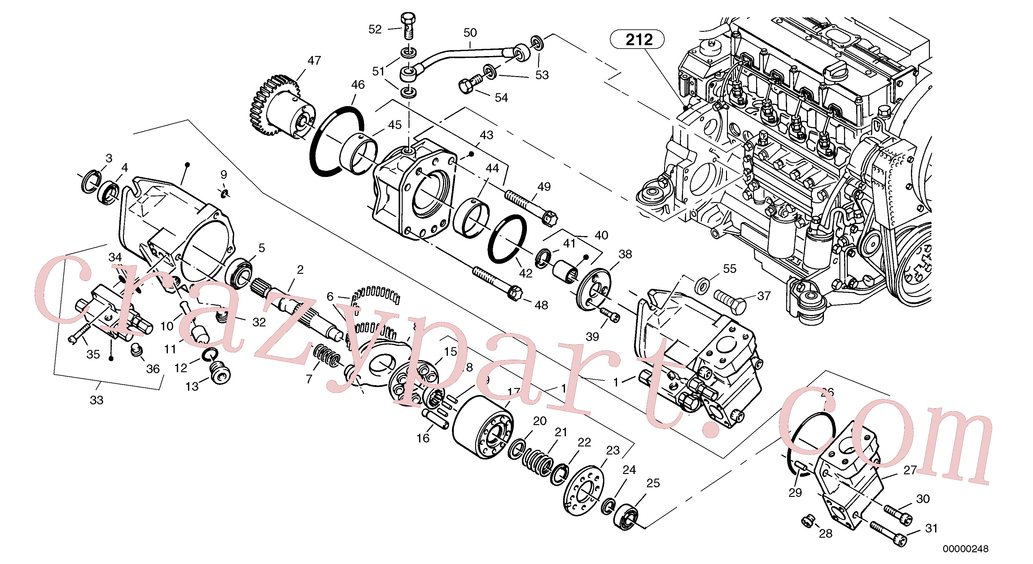 ZM2900650 for Volvo Stop block for wheel, Pump - working hydraulic(00000248 assembly)