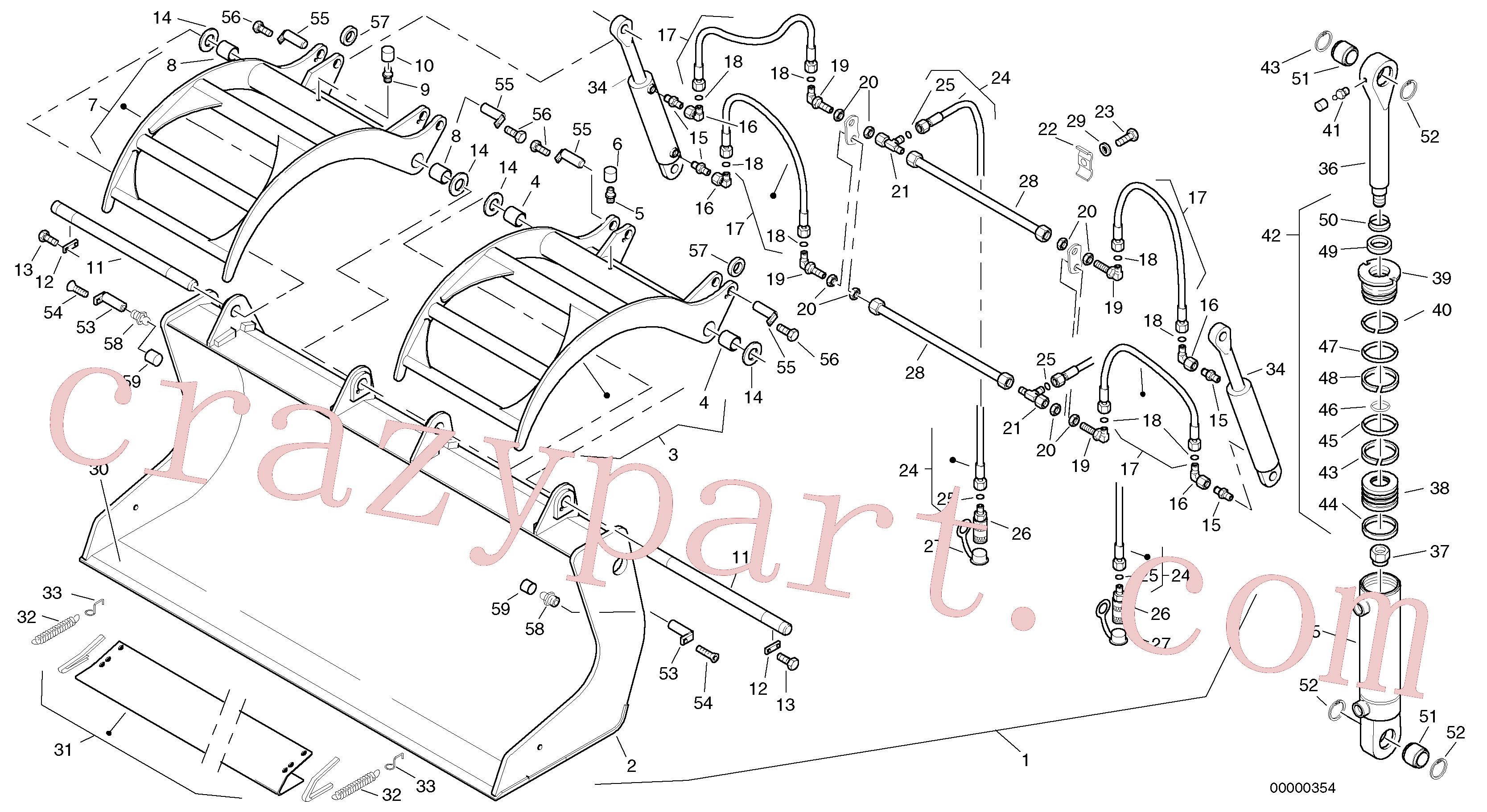 ZM2290851 for Volvo Scrap bucket, 0.7 m³ - 1900 mm broad(00000354 assembly)