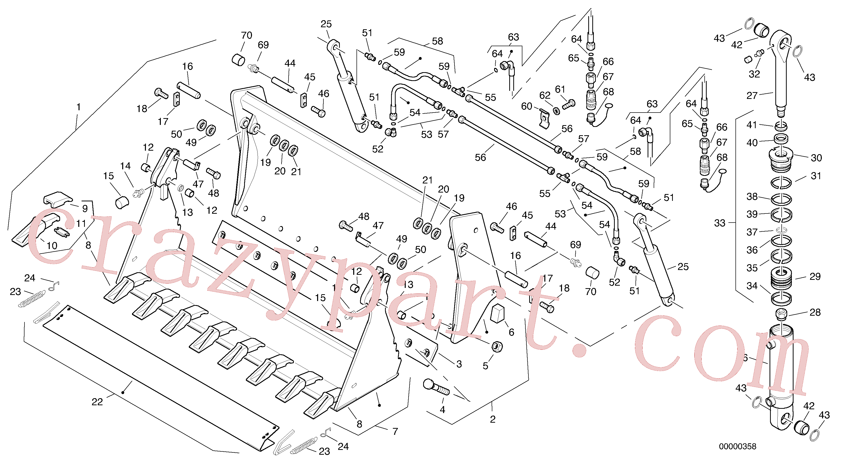 ZM2078120 for Volvo Combined bucket - Tpv(00000358 assembly)