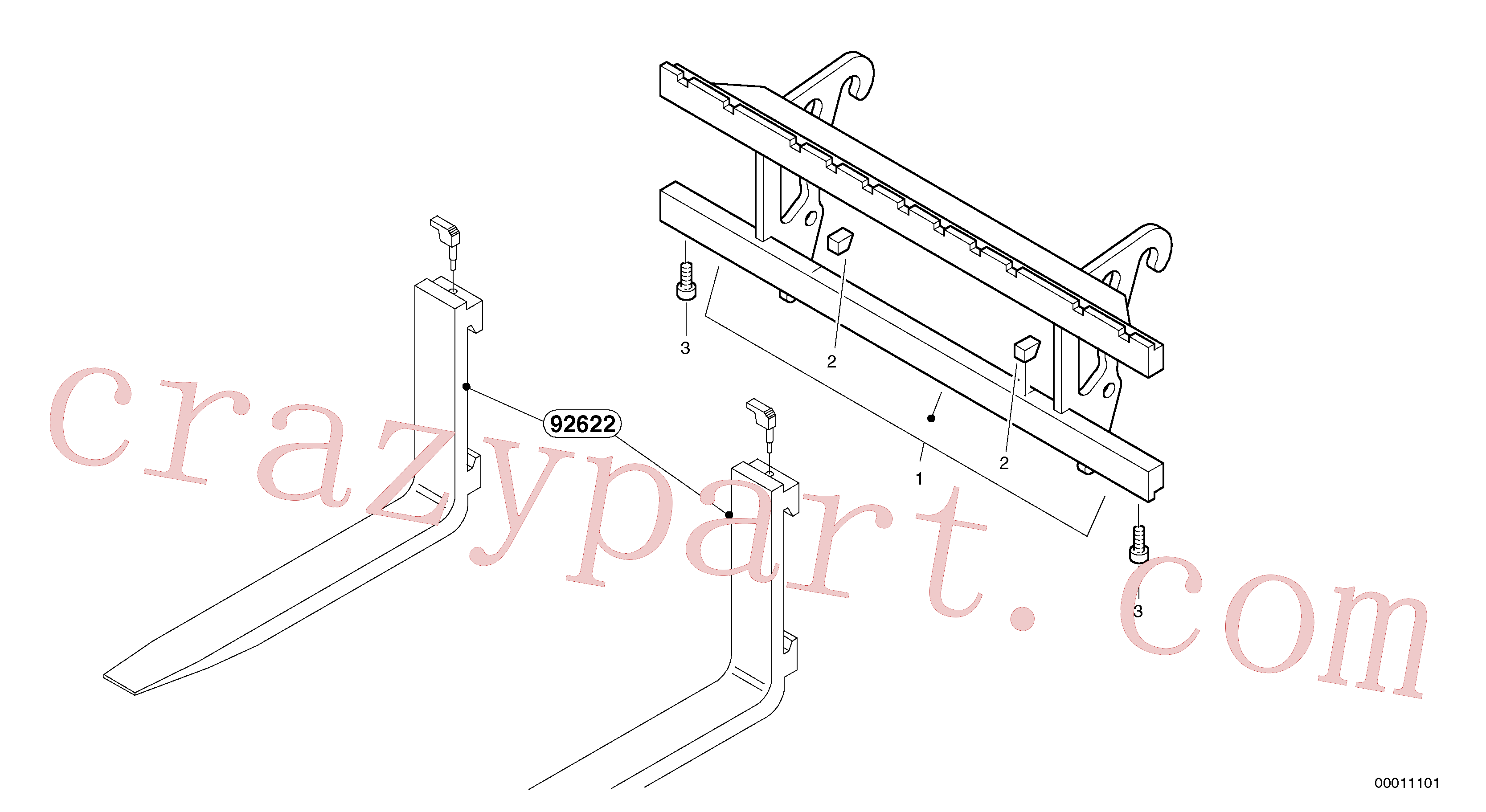 ZM2816503 for Volvo Fork lift attachment support(00011101 assembly)