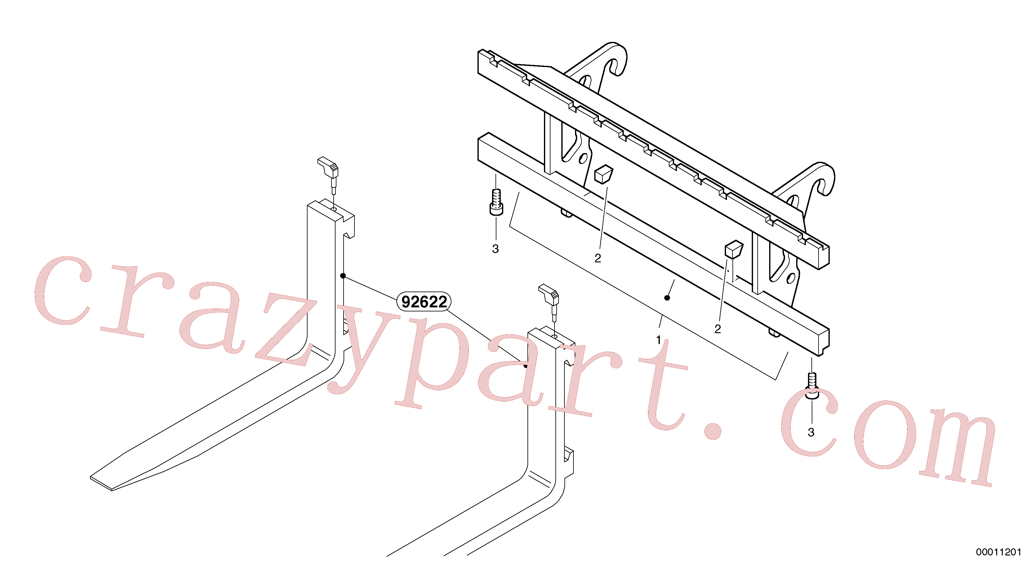 ZM2816503 for Volvo Fork lift attachment support(00011201 assembly)