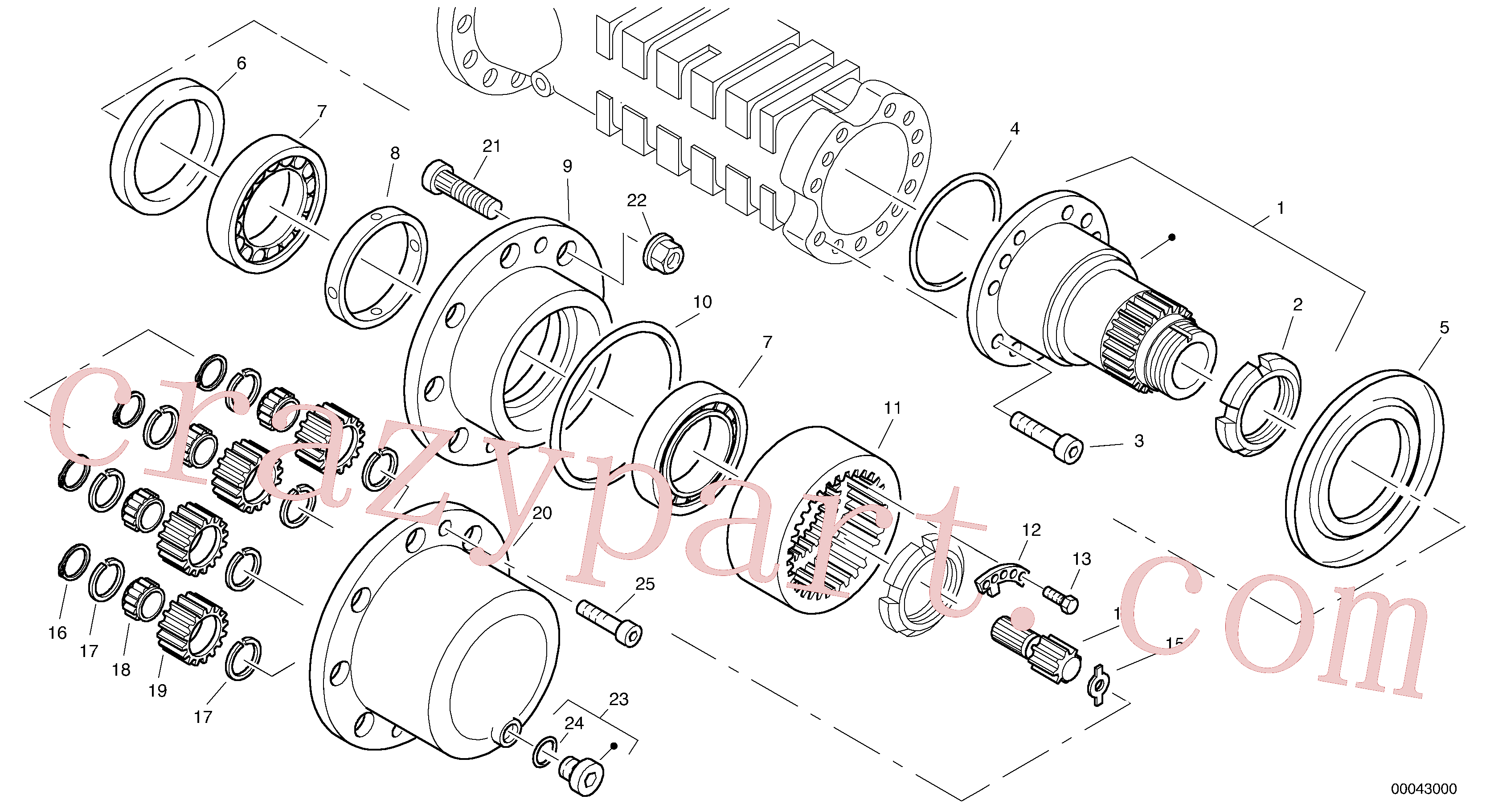 ZM2906430 for Volvo Final drive - portal-front axle(00043000 assembly)